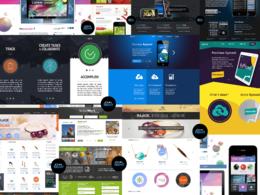 Create a PSD website / landing page - web template design