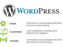 Install,setup,customize and completely rebrand your wordpress website