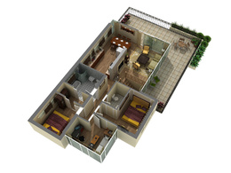 Convert 2D plans into 3D walls with doors and windows in 1 day