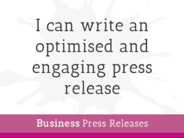 Write an engaging press release optimised for the press with unlimited revisions