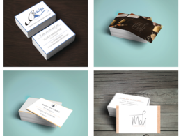 Luxorious business cards