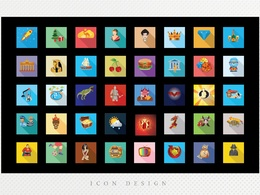 Design a set of modern flat style icon (5 icons)