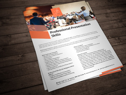 Design your A4 or A5 brochure / flyer