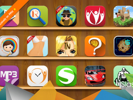 Design a clean 3D icon for your iOS/Android application