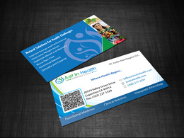 Design your business card a 2 sided.