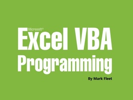 Develop Excel Macro using VBA to automate a piece of work