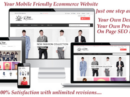 RiseCommerce's header