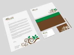 Design your stationery: Business card, letterhead, compliments  and web favicon