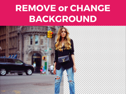 Remove or change the background of 10 photographs of people or objects
