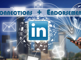 Boost your LinkedIn profile by adding upto 800 real connections +genuine endorsements