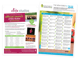 Design a double sided leaflet / flyer or poster