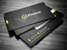 Create a modern business card with unlimited revision