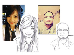 A cartoon sketch of your photo