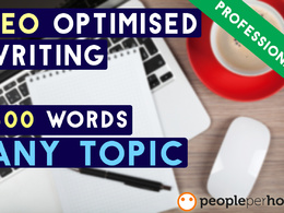 Write a unique/well-researched 500+ word SEO optimised article on any topic