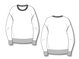 Create a technical fashion CAD on Illustrator from a photo or sketch