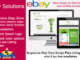 Responsive Ebay Store Design Template Plus installation including Listing Template
