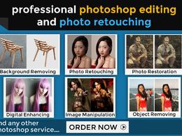 Professionally do any Photoshop editing work (image editing, photo retouching + MORE)