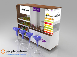Design 3D Outdoor/Indoor Food Kiosk