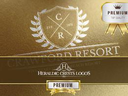 Design premium crest logo