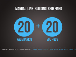 Manually create 20 EDU and GOV links PLUS  20 PR9 links as BONUS Limitedtime OFFER!!