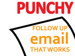 Write a punchy 1 sentence follow up email to revive leads & prospects for fresh sales