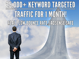 Generate 25000+ keyword targeted traffic to your website for 1 month
