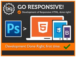 Develop PSD to Responsive HTML5 / Bootstrap (Wordpress Opt) -UK Expert-