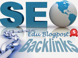 6 Edu links from 3 edu blogpost & Rss creation and submission