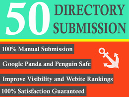 Manually do 50 high quality Directory submissions to boost your website ranking