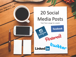 Create 20 social media posts catering to your target audience