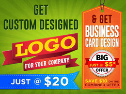 Design Premium Logo for your company with Special offer of Business card