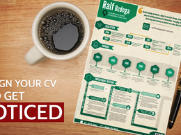 Turn your boring CV into an interesting infographic / infographics CV