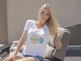Photoshop your logo onto a sexy models tshirt