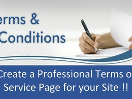 Create a Professional Terms and Conditions page for your Website