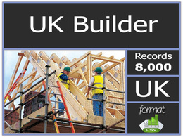 Send you UK 8000 plus builders contact list including email address