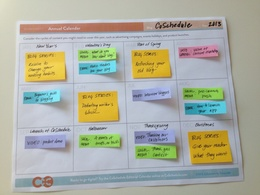 Create 1month content and editorial calendar for your social media accounts