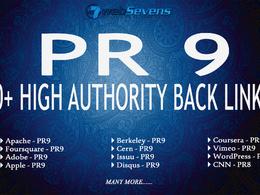 Build High Authority PR9 SEO Backlinks