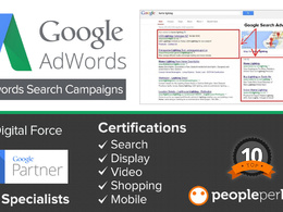 Setup  a new Adwords Account. Certified in all 5 Adwords Partner Qualifications