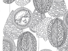 Create an adult colouring in design