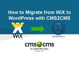 Transfer your website from Wix or Weebly to WordPress