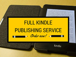 Provide Full Kindle Publishing, Create Your Account Design & Publish Kindle Books
