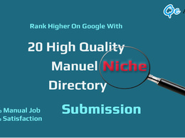 Improve Local Search (Business Listing in 20 Niche Directory + Local Maps)