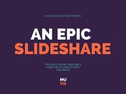 Design an EPIC slide deck of 7 slides