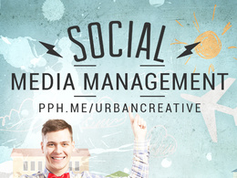 Social Media Management  with Custom Graphics & Content Creation for Three Profiles