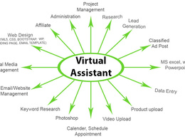 Work as virtual assistant for 2 hours
