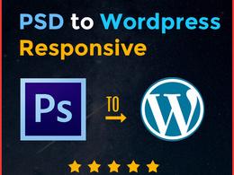 Convert psd to wordpress responsive , html to wordpress