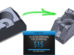 Convert 2D to 3D + render+preparing for 3D print
