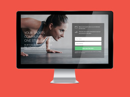 Design a responsive landing/squeeze page