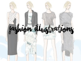 Draw 1 fashion illustration