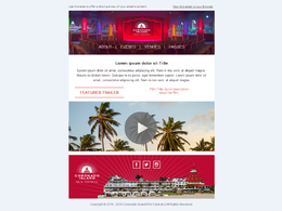 Design for you an HTML email newsletter template